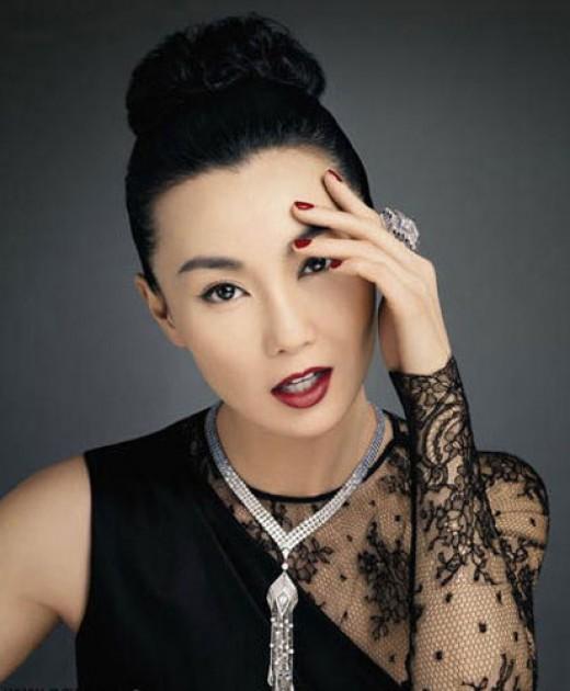 Beautiful woman Chinese Actress Maggie Cheung