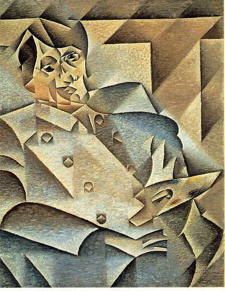 Juan Gris's portrat of Picasso in 1912.