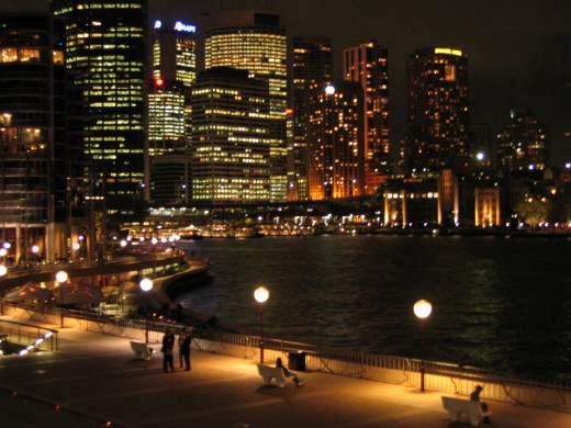 Sydney by night, harbour