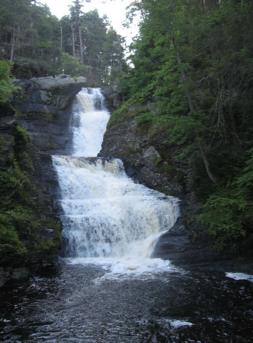 Top and middle sections of Raymondskill Falls