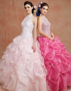 Pink Wedding Dresses and Brides Maid Dresses