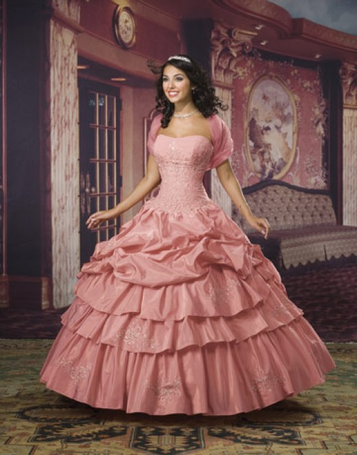 Gorgeous pink quinceanera dress as good as bridal gown