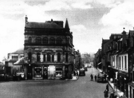From an old postcard. This building used to be the Library with the sweet shop on the corner.