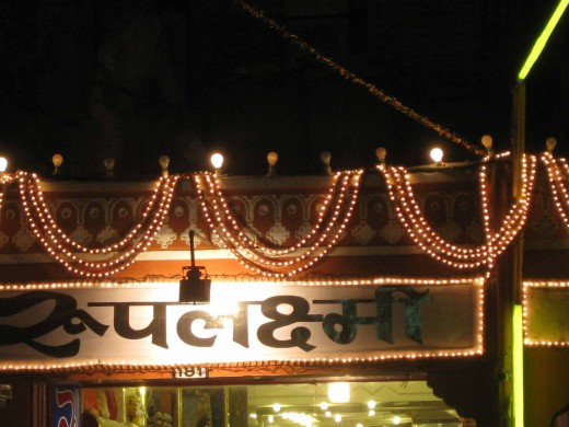 Saree shop in Johari Bazar, Jaipur on Dhan Teras