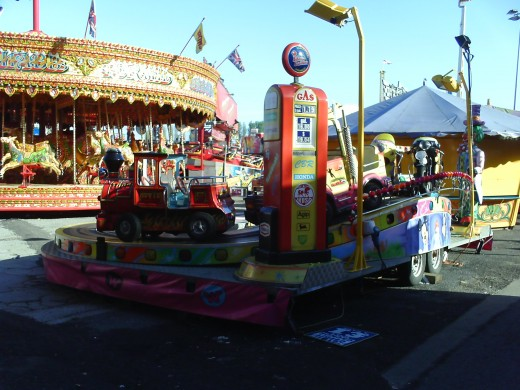 Lots of good rides for the kids at Hull Fair!