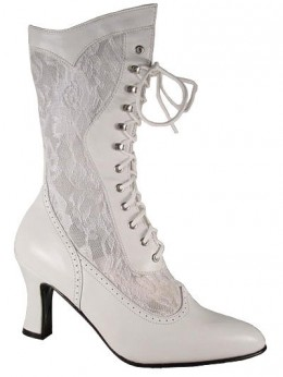 Beautiful Victorian leather and lace boots