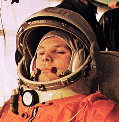 Russian Cosmonaut Yuri Gagarin First Man in Space April 12, 1961