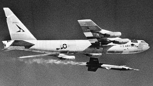 U.S. Air Force X-15 Aircraft being Launched from a B-52