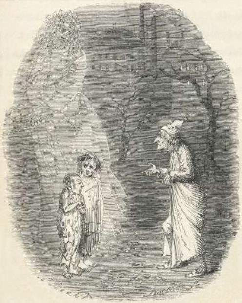 Ghost Art from A Christmas Carol: Ignorance and Want featured in Wikimedia.