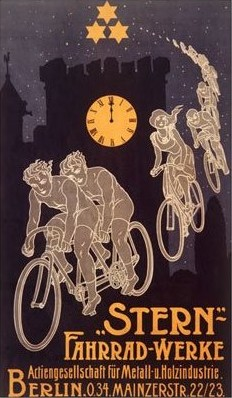 Stern Bicycle Works Ghost Poster from Amazon.com and Art.com