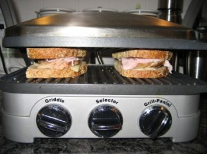 And there are some delicious Cuban Sandwiches being presses on a contact grill. Oh so delicious.