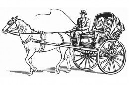 stagecoach coloring page - free coloring pages of carriage and horses