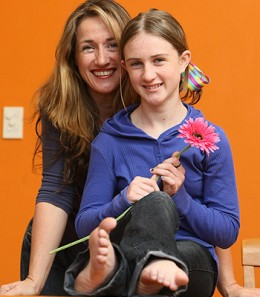Protected from HPV ... Johanna Roberts, 12, and mum Allison, who agreed for her daughter to take part in the school vaccination program. Picture: Troy Bendeich  Source: The Daily Telegraph