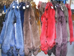 Today, one can use furs to look fat and of an unnatural color at the same time.
