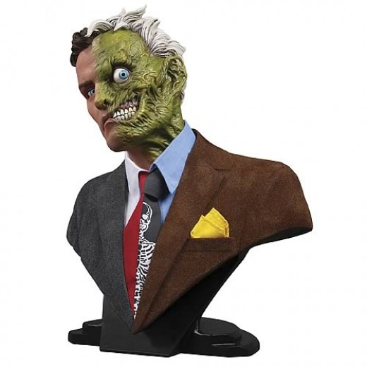 "Why would you listen to anyone that's ""Two-Faced"" anyways? [DC Comics:Batman:""Two Face"":1:2 Scale Bust@www.entertainmentearth.com]"
