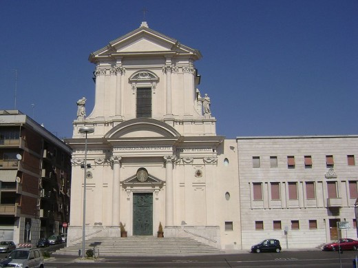 The 18th Century Cathedral of San Francesco dAssisi at Civitavecchia built by Francescan monks