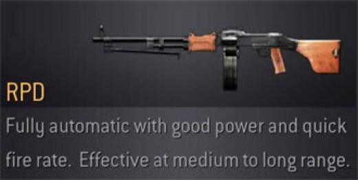 COD4 RPD Light Machine Gun