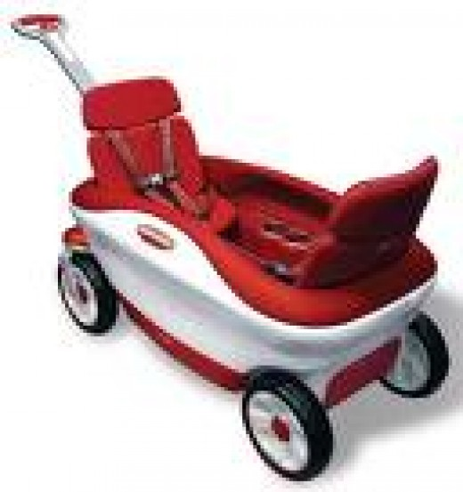 Check this out! The little red wagon has gone luxury!