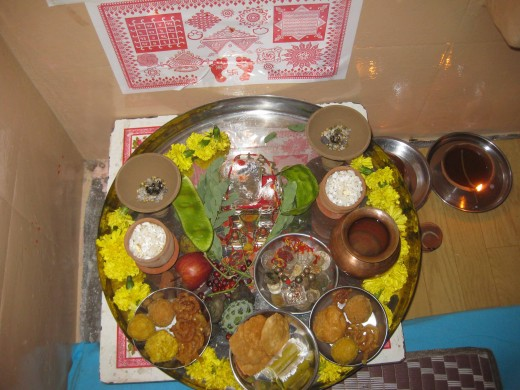 Diwali Pujan Offerings to Devi Laxmi