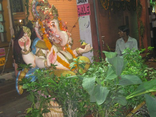 Ganesh Pujan at Johri Bazar Diwali festival