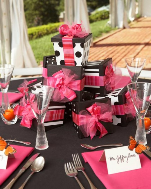 FASHION BRIDAL SHOWER CENTERPIECE