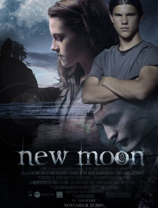 Jacob Black and Bella in a Twilight: New Moon Poster