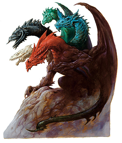 Tiamat, Queen of the chromatic dragons