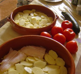 One pot fish dish - potatoes