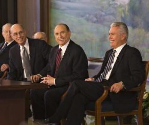 Confidence in their calls, at press conference announcing the First Presidency of Mormon Church.