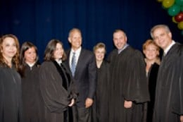 Judge Schurr (leftmost) and colleagues in Miami, Florida      (Photo: ourkids.us)