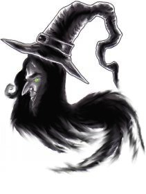 The after smudging drawing of the witches head and I made it darker and just had a blast using the smudge feature.