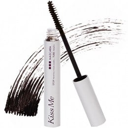 Black mascara can be overpowering; opt for a black-brown or dark grey color instead.