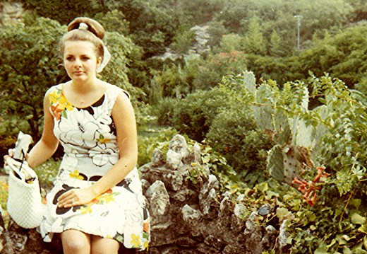 My single dating days. Photo taken at the Sunken Gardens in San Antonio. Already an operating room nurse at this point.