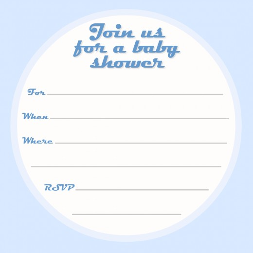 Free baby shower invitation -- blue for boys