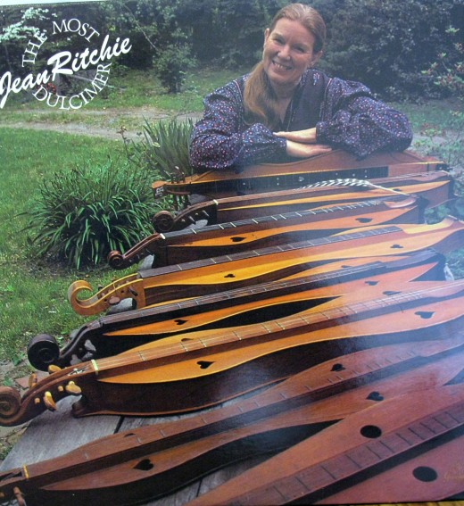Ritchie is well known for her dulcimer playing