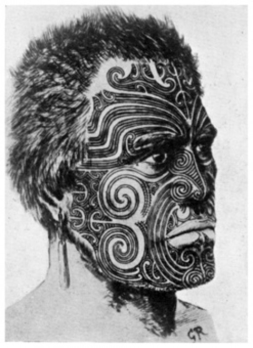 repetition of specific design motifs distinguishes Maori tattoo designs.