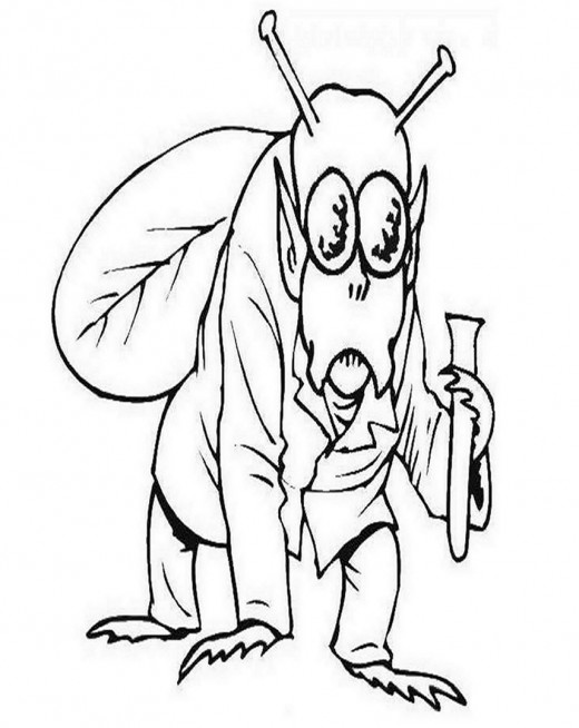 Halloween Monster Costume Ideas Kids Coloring Pages Colouring Pictures to Print