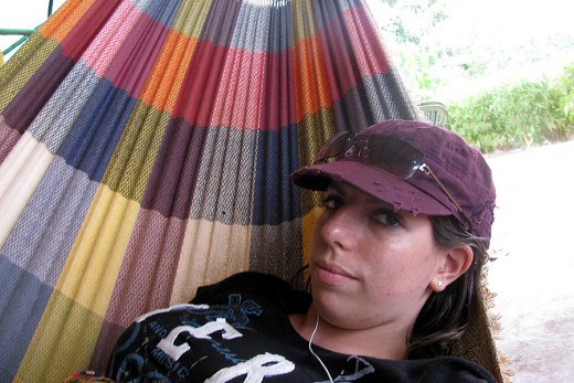 This is me, looking cool in my favourite hammock!