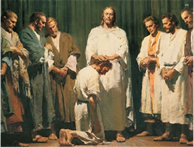 Ordination of Peter to administer His Gospel.  The Savior was aware of His impending death...