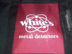 Whites logo on soft carrying metal detector case