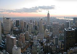 Midtown Manhattan as seen from the GE Building