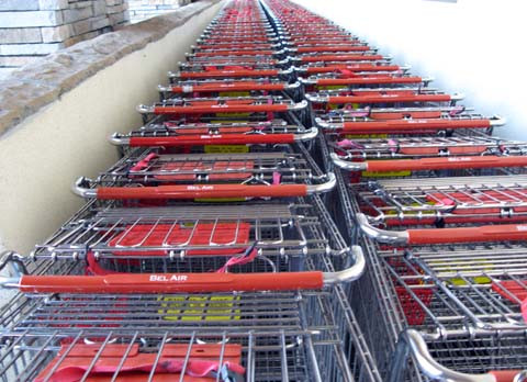 Carts are often stored in cramped corrals, leaving little room for exercise