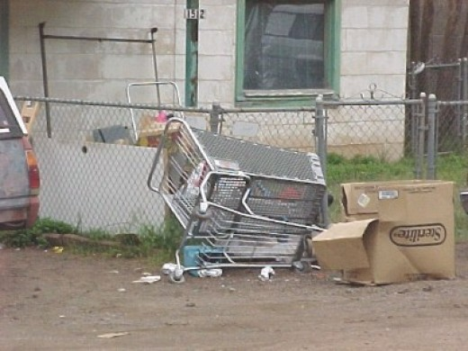 Another injured cart has been abandoned.
