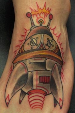 Spaceship (by Jay Blevins, TattooTech3, Dayton, Ohio)