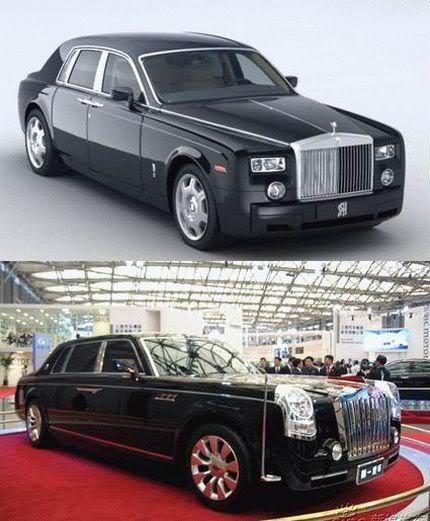 Rolls-Royce Phantom vs Hongqi HQD
