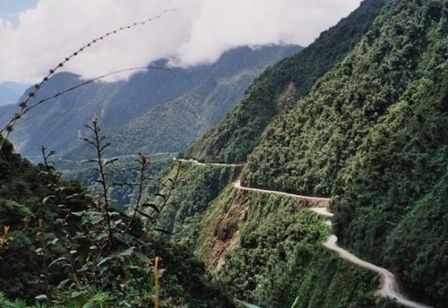 "The so-called ""DEATH ROAD"" in Bolivia"