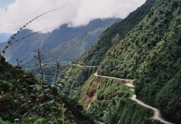"""The so-called """"DEATH ROAD"""" in Bolivia"""