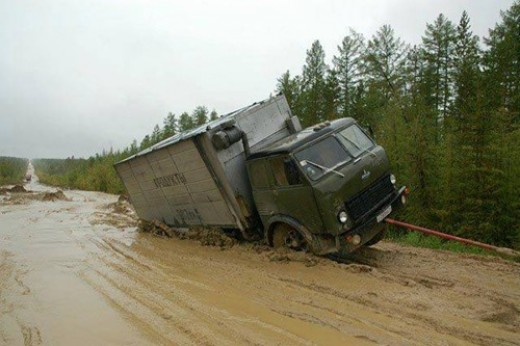 Siberian Road to Yakutsk Russia (ROAD OF BONES)