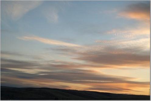 Sunset over Central Oregon
