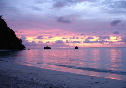 Sunset at Vatuvara Island